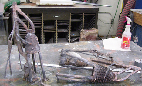 Metal Sculpture Direct from the Mold