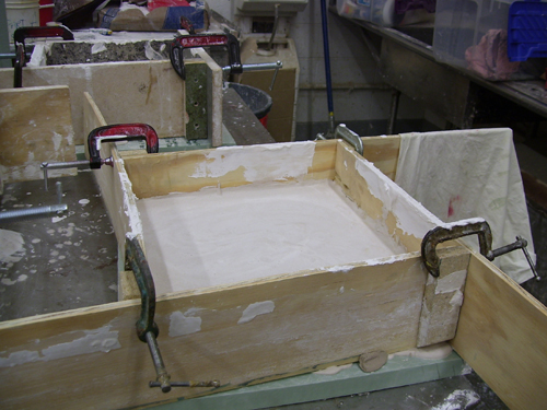 Plaster Molds in Process of being created